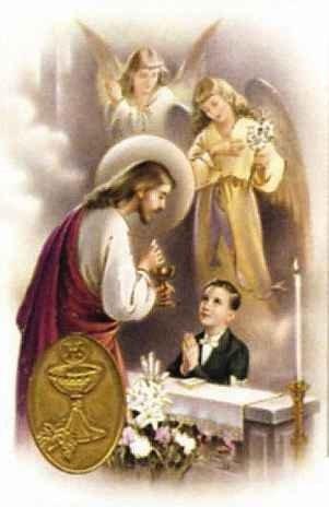 Carte de prière avec poinçon - Communiant