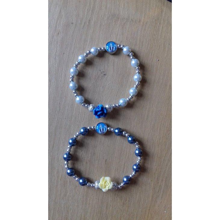 Bracelet Vierge Miraculeuse - bleu