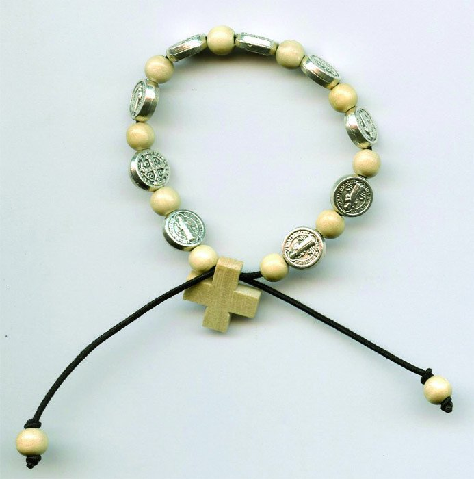 Bracelet Saint Benoît - Bois