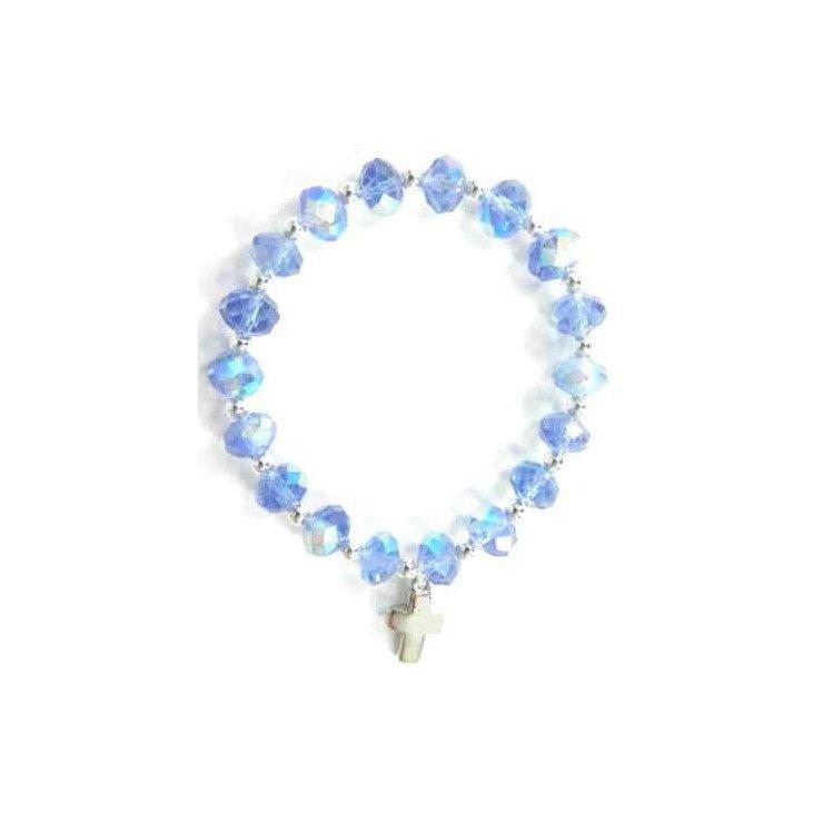 Bracelet cristal bleu