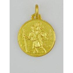 Médaille Saint Christophe - plaqué or