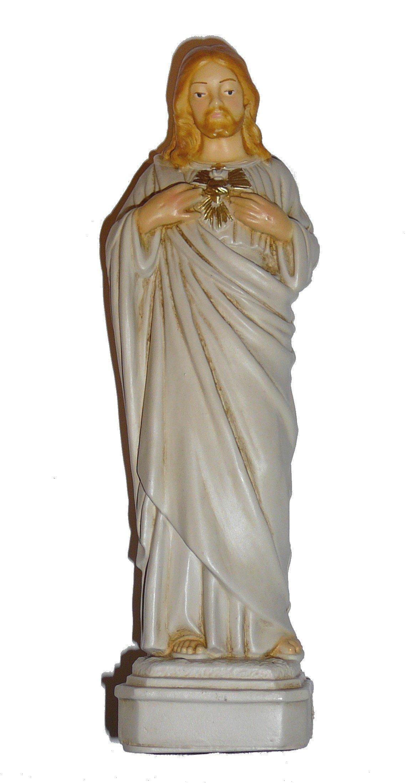 Statue en résine du Sacré-Coeur de Jésus