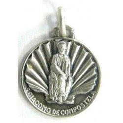 Médaille Saint Jacques Argent Massif - 12 mm
