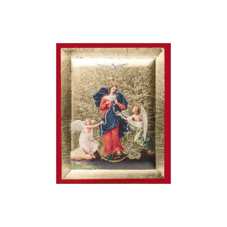 Icône de Marie qui défait les noeuds - 8 cm