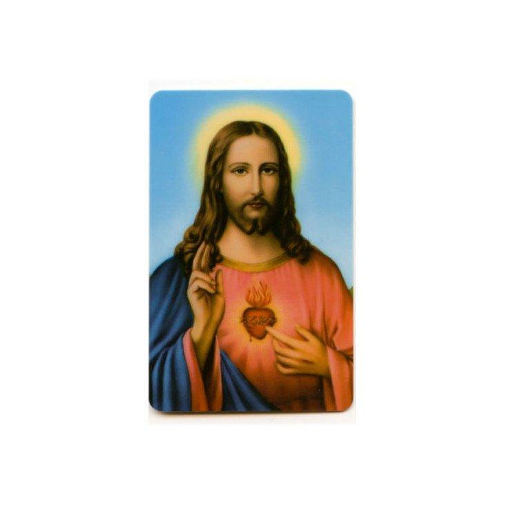 Carte de prière - Sacré-Coeur de Jésus