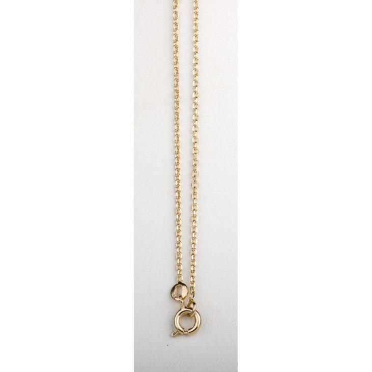 Chaîne maille forçat diamantée en plaqué or - 50 cm