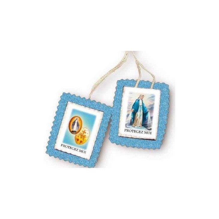Scapulaire en tissu - Vierge Miraculeuse