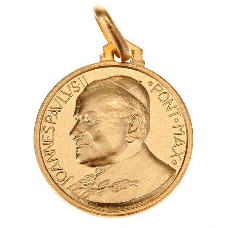 Médaille Saint Jean Paul II - or 18 carats