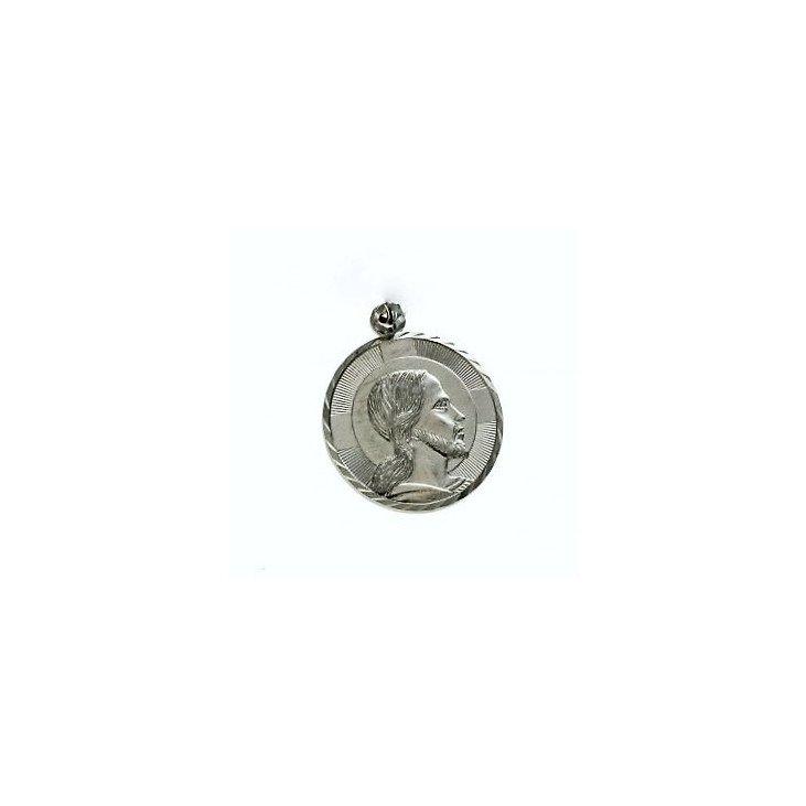 Médaille du Christ en Argent Massif - 20 mm