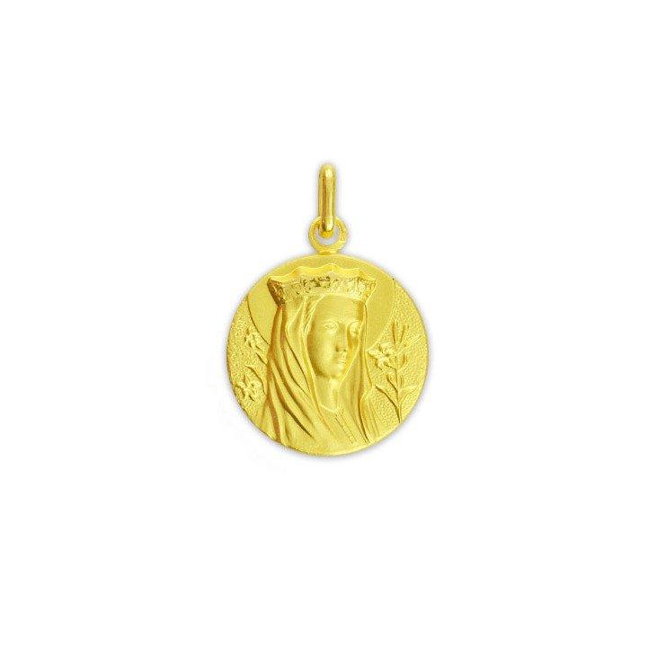 Médaille de la Vierge couronnée - plaqué or