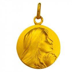 Médaille de la Vierge suppliante - plaqué or