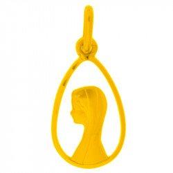 Médaille de la Vierge ajourée - plaqué or