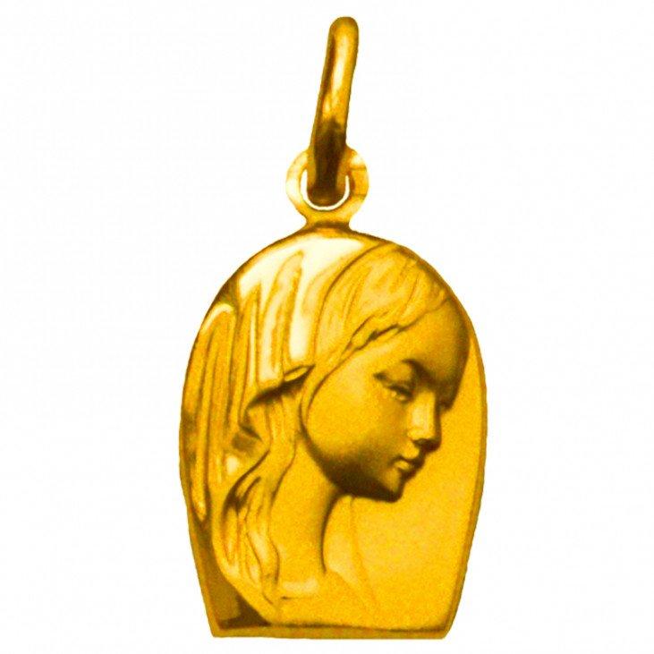 Médaille de la Vierge forme originale - plaqué or