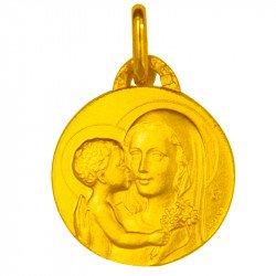 Médaille de la Vierge de Tendresse - plaqué or