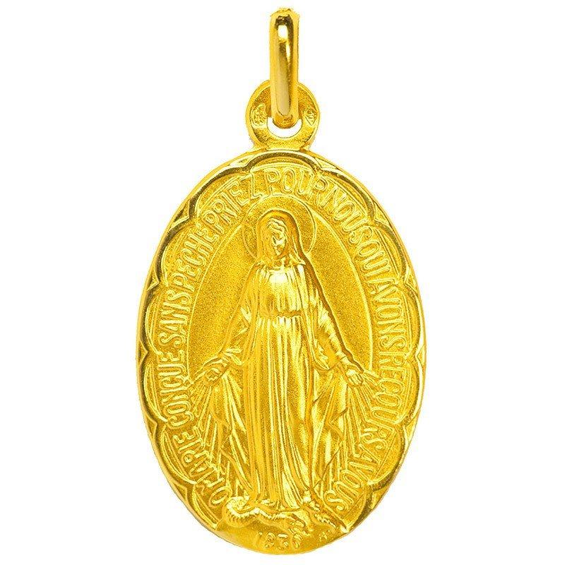 Médaille Miraculeuse festonnée - or 18 carats