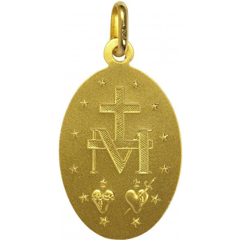 Médaille Miraculeuse bord épais - or 18 carats