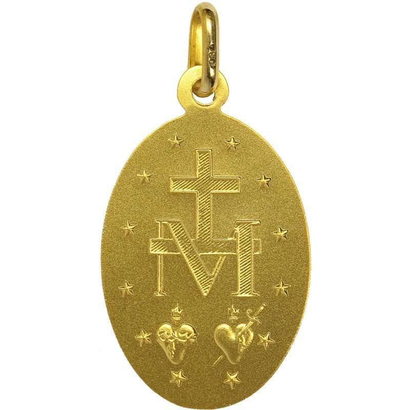 Médaille Miraculeuse bord fin - or 18 carats