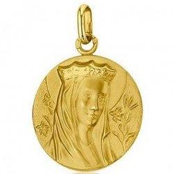 Médaille de la Vierge couronnée - or 18 carats