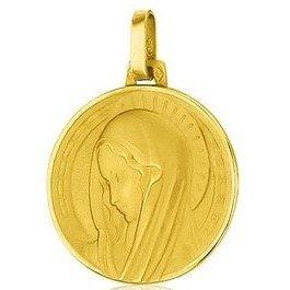 Médaille de la Vierge Marie 18mm profil - or 18 carats