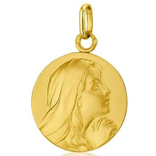 Médaille de la Vierge suppliante 18mm - or 18 carats