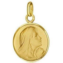 Médaille de la Vierge suppliante avec bord - or 18 carats