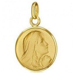 Médaille de la Vierge priante - or 18 carats