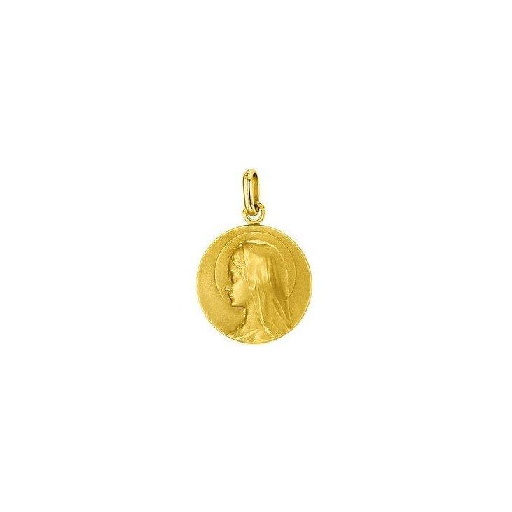Médaille de la Sainte Vierge 18mm profil - or 18 carats