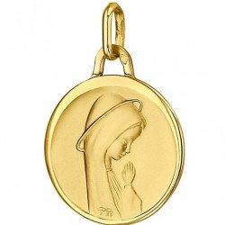 Médaille de la Vierge priante 17mm - or 18 carats