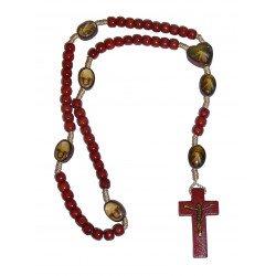 Chapelet Divine Miséricorde en bois
