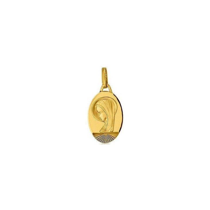 Médaille de Marie qui répand ses grâces - or 18 carats
