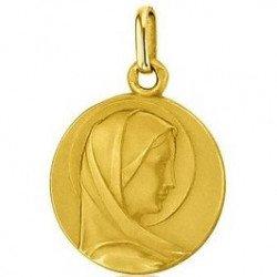 Médaille de la Vierge 20mm - or 18 carats