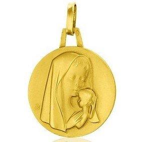 Médaille de la Vierge enfantine - or 18 carats