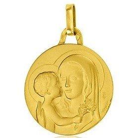 Médaille de la Vierge de Tendresse 18mm - or 18 carats