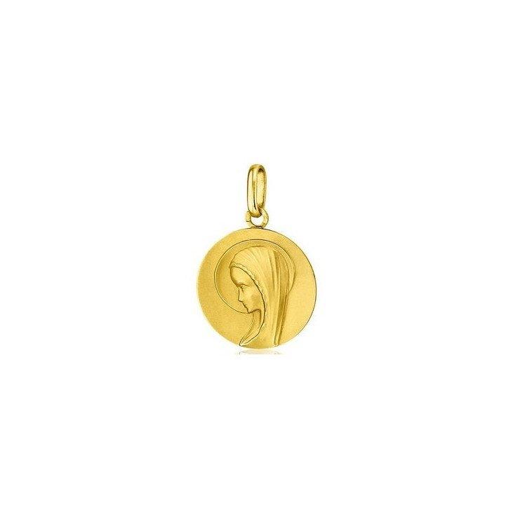 Médaille de la Vierge moderne 18mm - or 18 carats