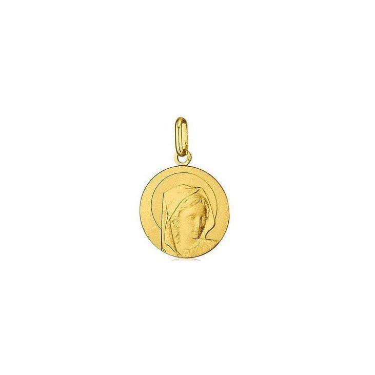 Médaille de la Vierge 17mm - or 18 carats