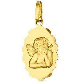Médaille Ange festonnée - or 18 carats