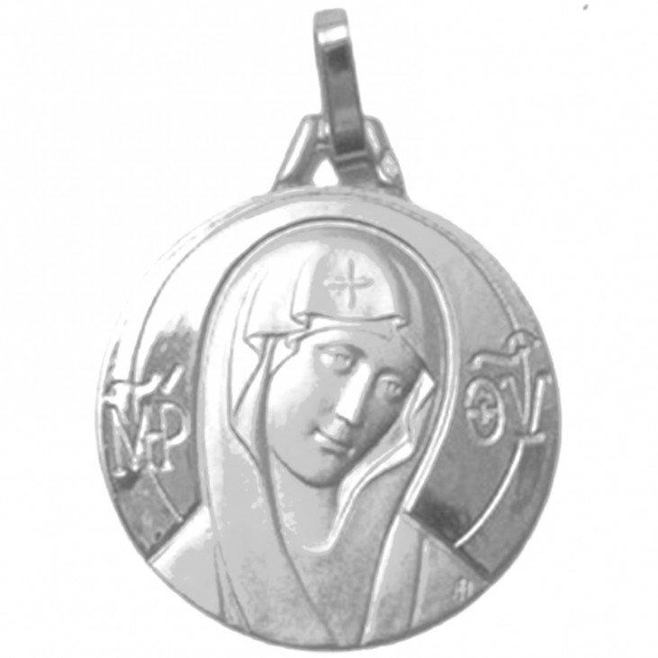 Médaille de la Vierge voile - argent