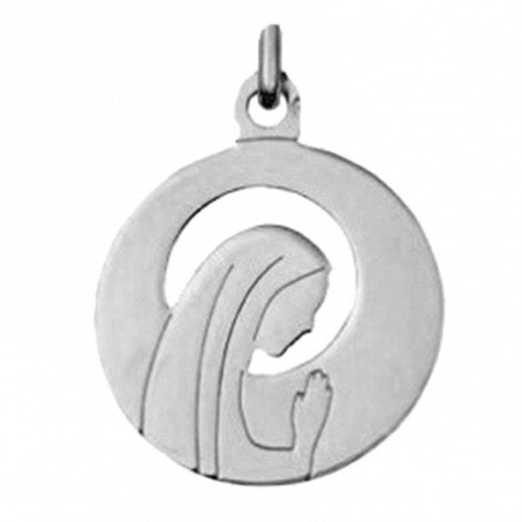 Médaille de la Vierge Priante ajourée - argent