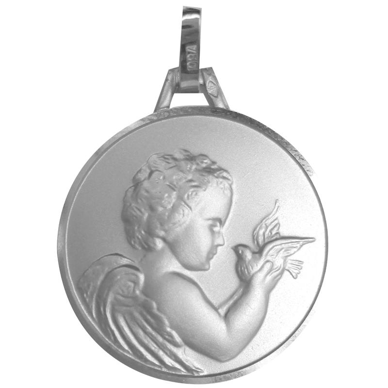 Médaille de l'Ange avec colombe - argent