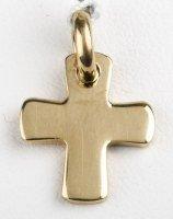 Croix arrondie - plaqué or