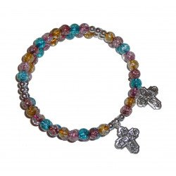 Bracelet chapelet multicolore