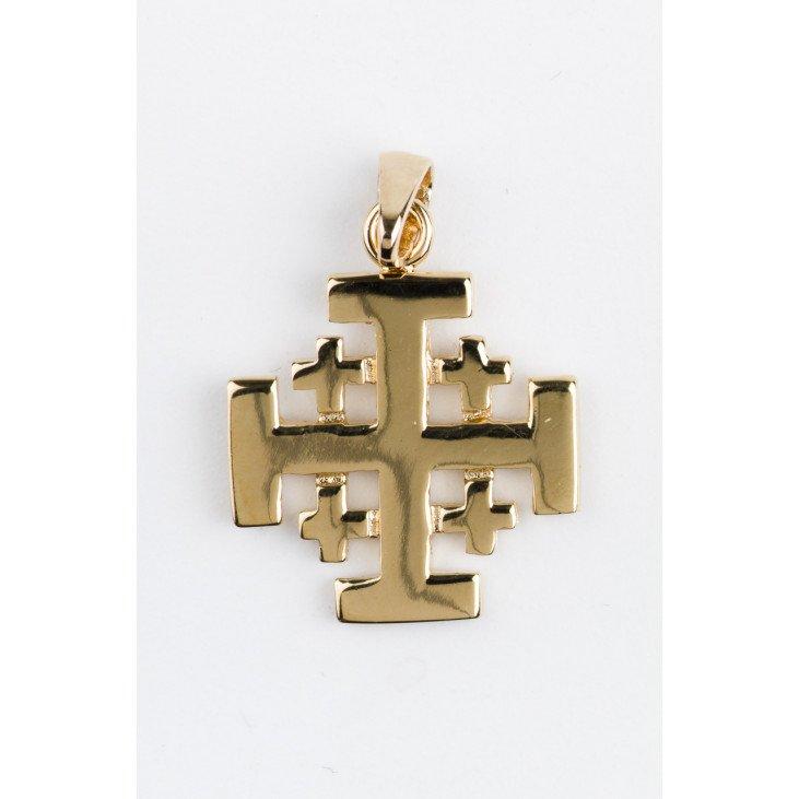 Croix de Jérusalem - plaqué or