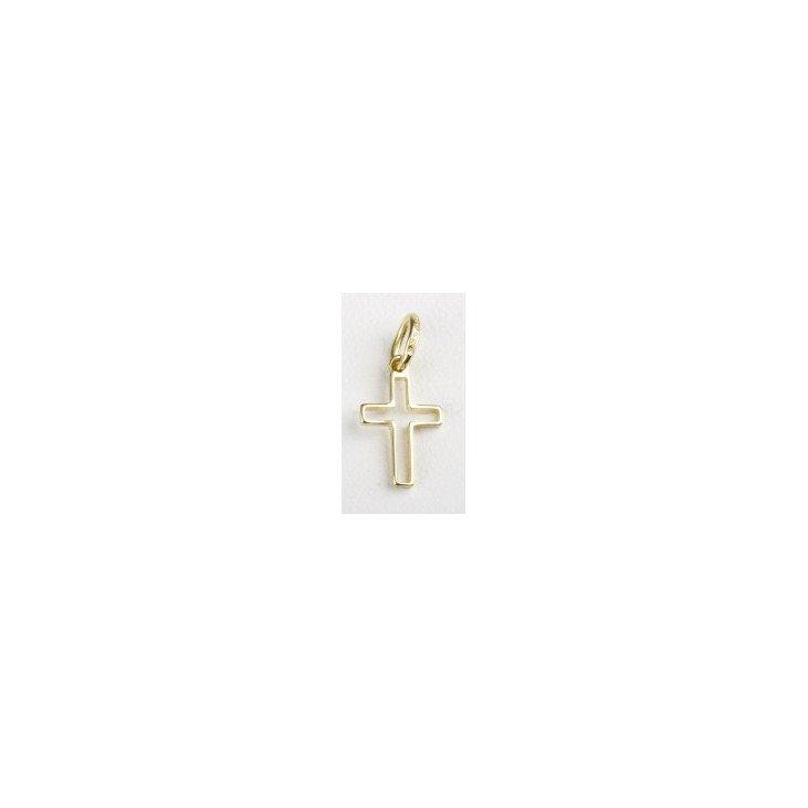 Croix ajourée - plaqué or