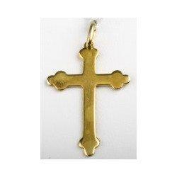 Croix trèfle - plaqué or