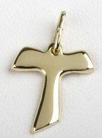 Croix Saint Antoine - plaqué or