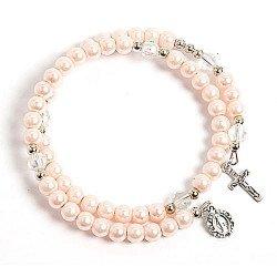 Bracelet chapelet rose