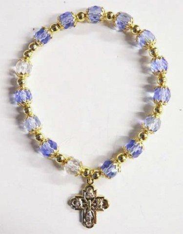 Bracelet doré et grains semi-cristal