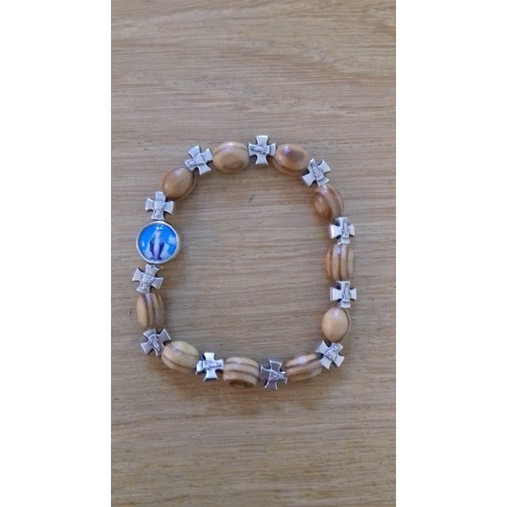 Bracelet Croix - bois et métal