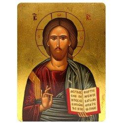 Icône Plate du Christ Pantocrator