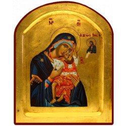 Icône Creuse Arrondie Vierge de Passion